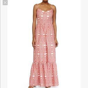 Rare Betsey Johnson Coral Maxi Dress